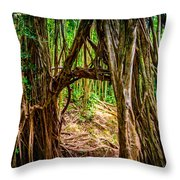 Out Of The Hole And Through The Trees Throw Pillow