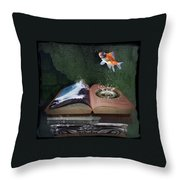 Out Of The Pond Throw Pillow