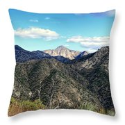 Out Of The Shadows - Angeles Crest Highway Throw Pillow