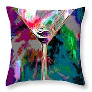 Out Of This World Martini Throw Pillow