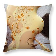 Out Of This World Tongue Lash To The Belly Button Of A Bald Bee Princess Throw Pillow
