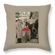 Out Of Work Throw Pillow