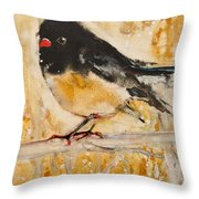 Out On A Limb With Orange Feet Throw Pillow