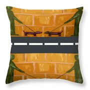 Out On The Street Throw Pillow