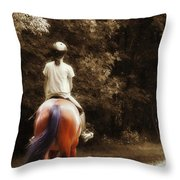 Out On The Trail Throw Pillow