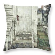 Out The Back Door Pencil Throw Pillow