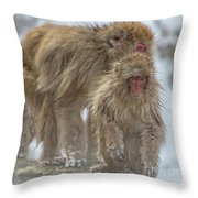 Out We Come Throw Pillow
