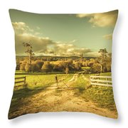 Outback Country Paddock Throw Pillow