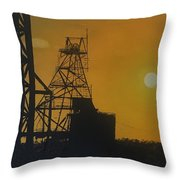 Outback Mines Throw Pillow