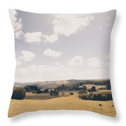 Outback Ridgley In Scenic Tasmania, Australia Throw Pillow