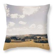 Outback Ridgley In Scenic Tasmania, Australia Throw Pillow