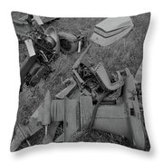 Outboards Bw Throw Pillow