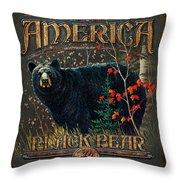 Outdoor Bear Throw Pillow