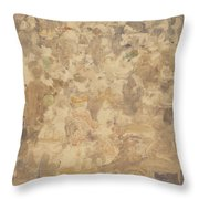 Outdoor Cafe Scene Throw Pillow