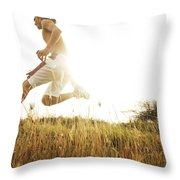 Outdoor Jogging II Throw Pillow
