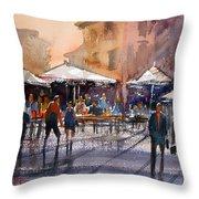 Outdoor Market - Rome Throw Pillow