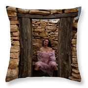 Outdoor Outhouse Throw Pillow