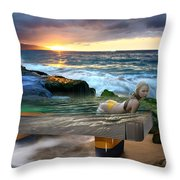 Outdoor Pool Throw Pillow
