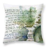 Outdoor Spirit Throw Pillow