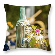 Outdoor Table Setting Throw Pillow