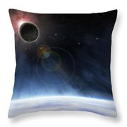 Outer Atmosphere Of Planet Earth Throw Pillow