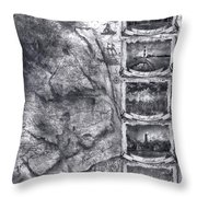 Outer Banks Lighthouse Map 1 Throw Pillow