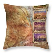 Outer Banks Lighthouse Map 3 Throw Pillow