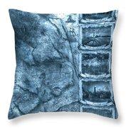 Outer Banks Lightouse Map 2 Throw Pillow