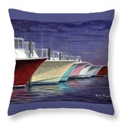 Outer Banks Line-up Throw Pillow
