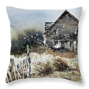 Outer Banks Shack Throw Pillow
