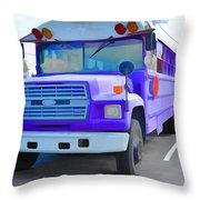 Outer Banks University Bus 1 Throw Pillow