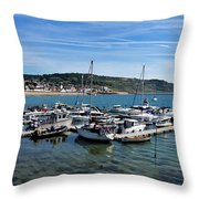 Outer Harbour - Lyme Regis Throw Pillow