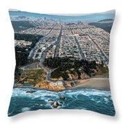 Outer Richmond San Francisco Aerial Throw Pillow