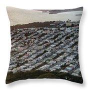 Outer Richmond San Francisco Aerialouter Richmond San Francisco Aerial Throw Pillow