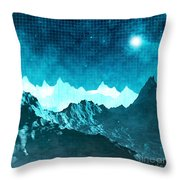 Outer Space Mountains Throw Pillow