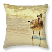 Outerbanks Gull Throw Pillow