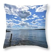Outhaul On An Island In Casco Bay Maine  Throw Pillow