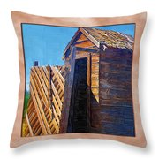 Outhouse 2 Throw Pillow
