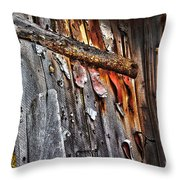 Outhouse Holzworth Historic Site Throw Pillow