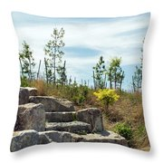 Outlook Hill, Governors Island Throw Pillow