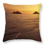 Outrigger Canoe Paddlers Throw Pillow