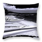 Outrigger Ocean Canoes Throw Pillow