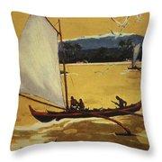 Outrigger Off Shore Throw Pillow