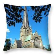 Outside Christ Church Cathedral 2 Throw Pillow