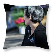 Outside Looking In Throw Pillow