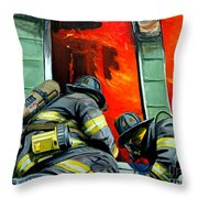 Outside Roof Throw Pillow by Paul Walsh