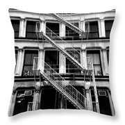 Outside Stairs Throw Pillow