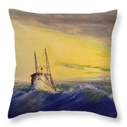 Outside The Jetty Throw Pillow