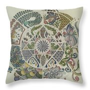 Outside The Mandala Throw Pillow