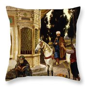 Outside The Palace Throw Pillow